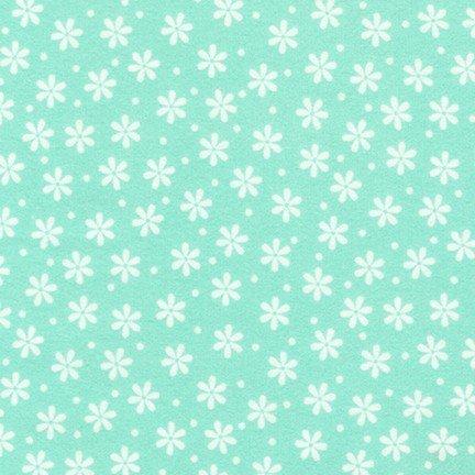 Cozy Cotton Flowers-Seafoam