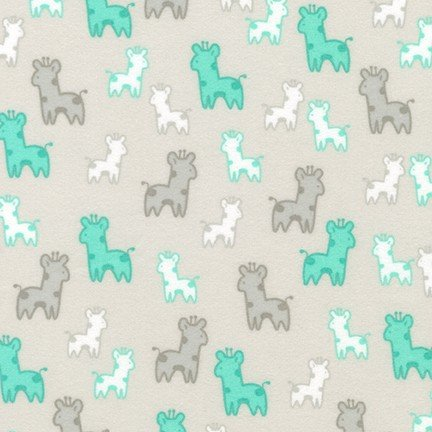 Cozy Cotton Giraffe - Silver