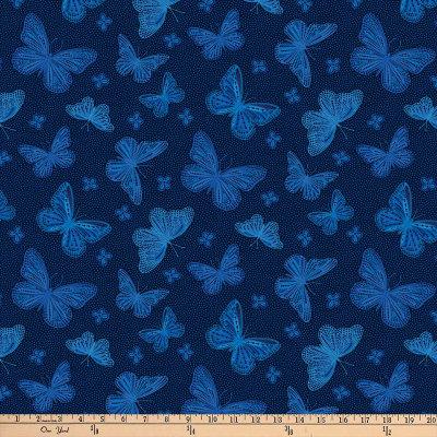 Dolce Vita Dk Blue Multi Butterflies