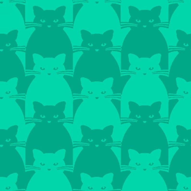 Blank Quilting Co. Kitty Kitty Teal
