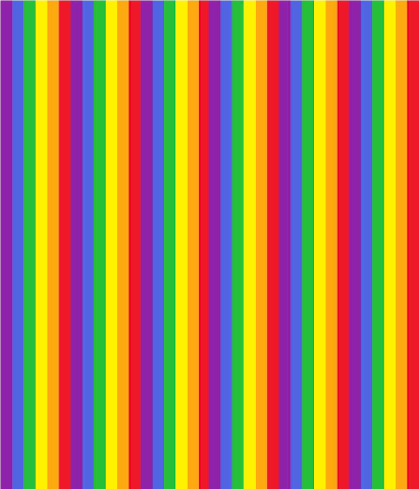 Fashion Print Rainbow Stripes ADH