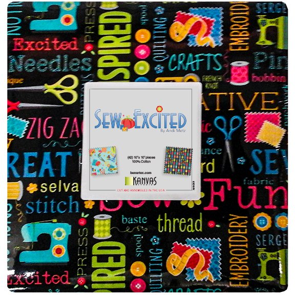 10in Squares Sew Excited 42pcs/bundle