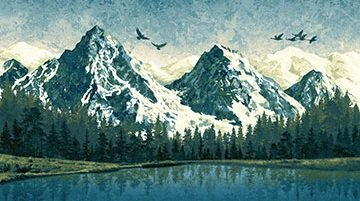 Mountain Wilderenes Panel