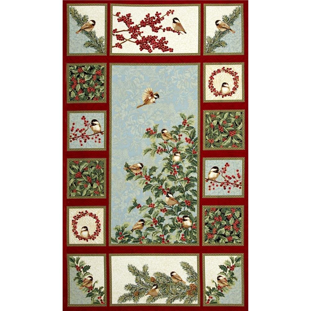Chickadees & Berries Panel