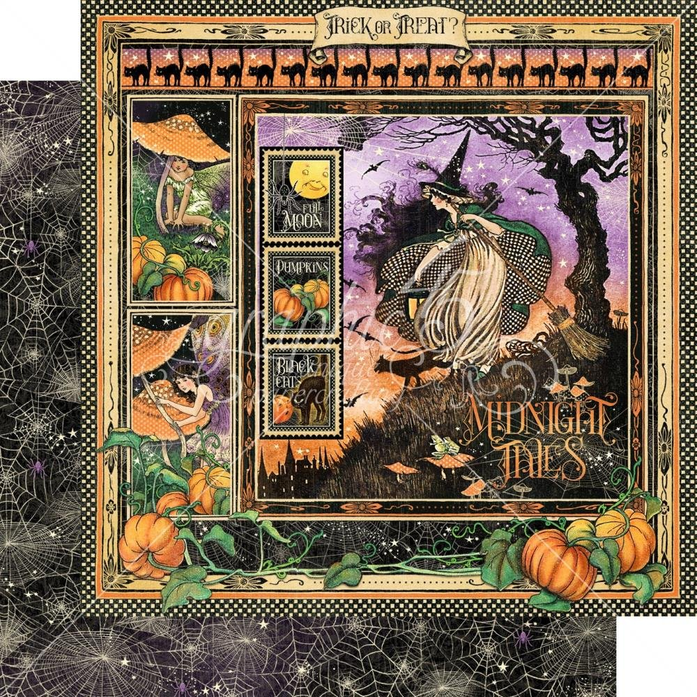 Midnight Tales Double-Sided Cardstock 12X12- Midnight Tales