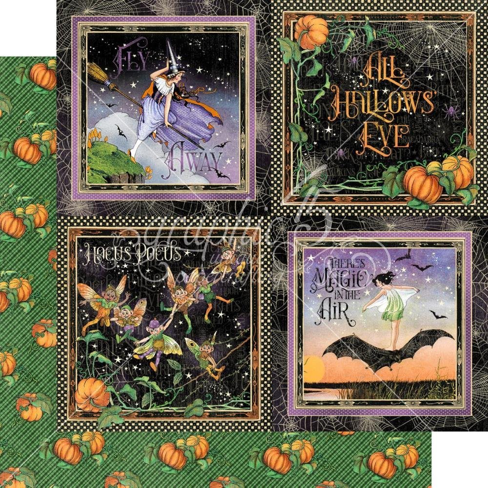 Midnight Tales Double-Sided Cardstock 12X12- Hallows Eve
