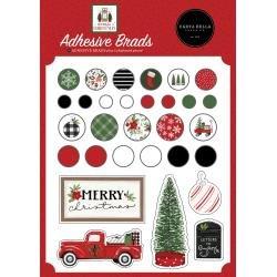 Carta Bella Decorative Brads -Home For Christmas
