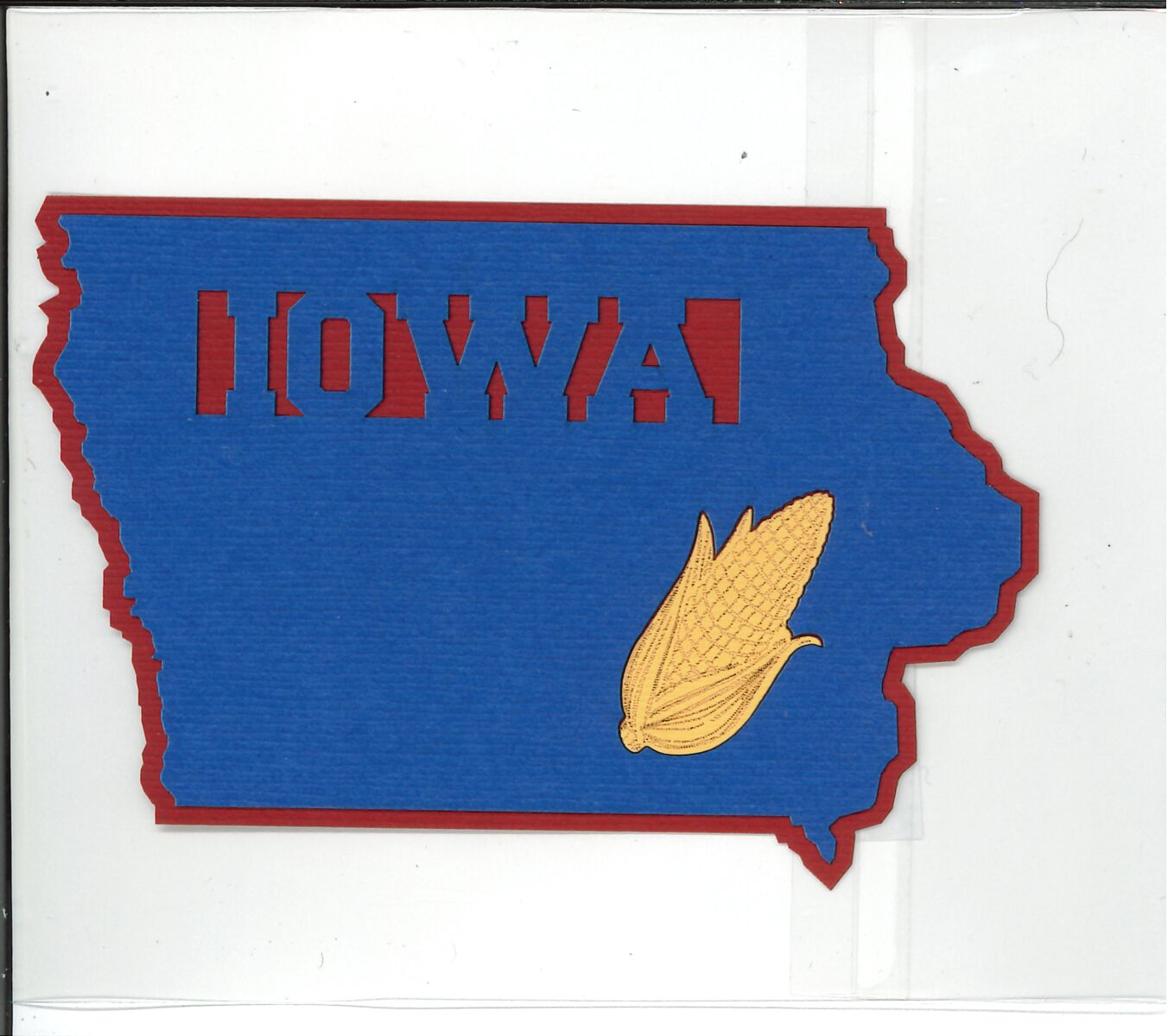 IOWA SHAPE WITH CORN Die Cut