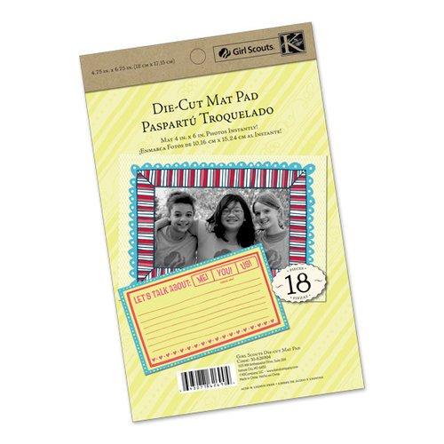 SCOUT DIECUT MAT PAD-GIRL 4X6