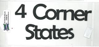 DIECUT - 4 CORNER STATES