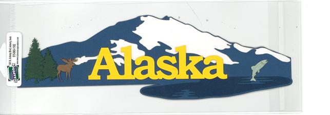 DIECUT - ALASKA W/SNOWCAPPED MOUNTAINS