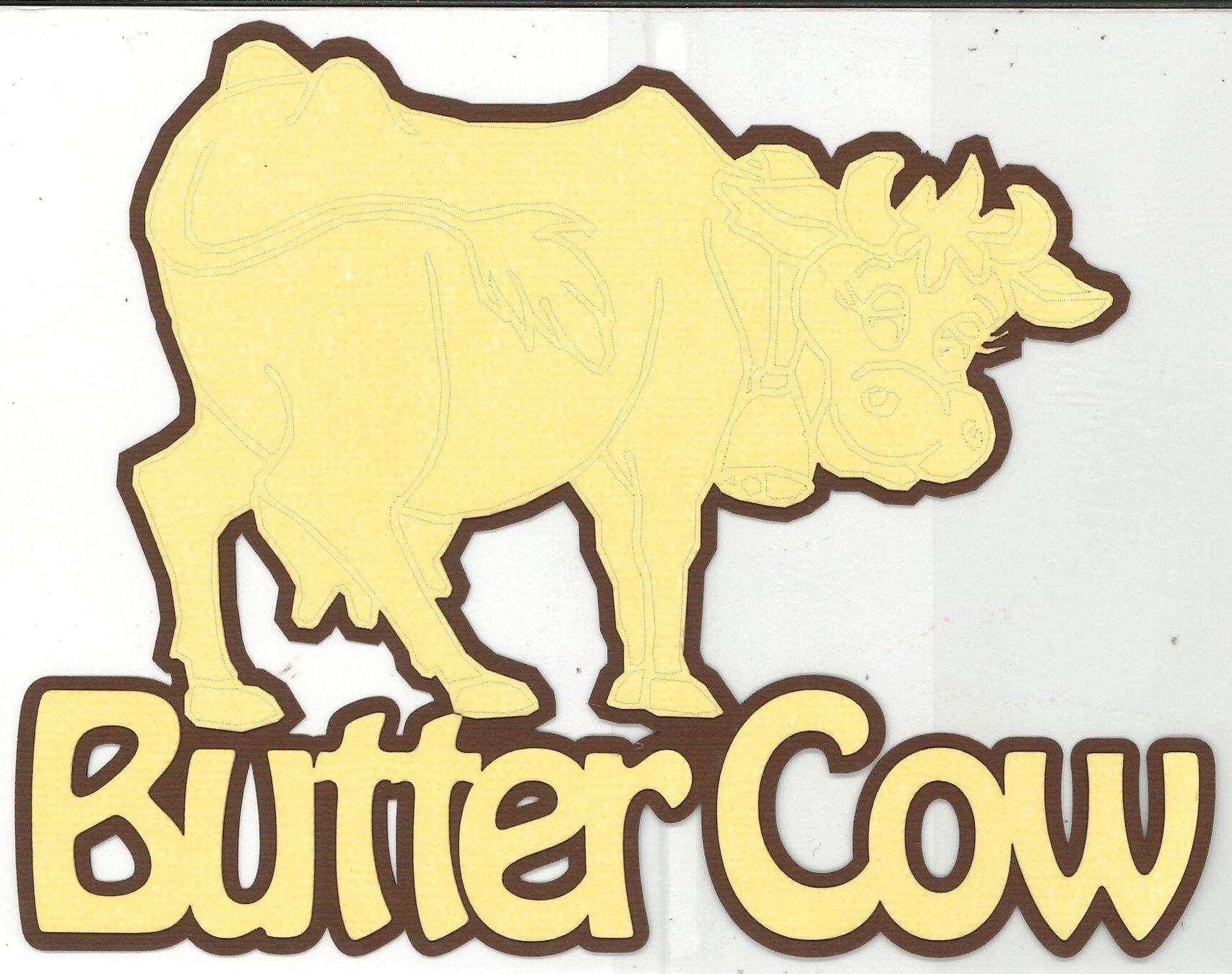 DIECUT - BUTTER COW