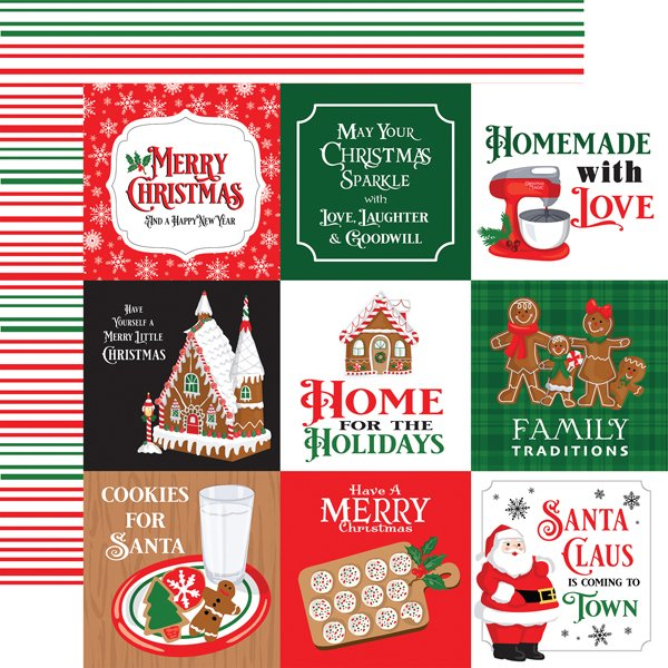 Echo Park CHRISTMAS CHEER 4X4 JOURNALING CARDS