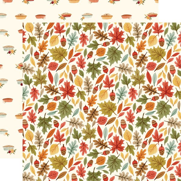 Hello Autumn Double-Sided Cardstock 12X12-Leaves