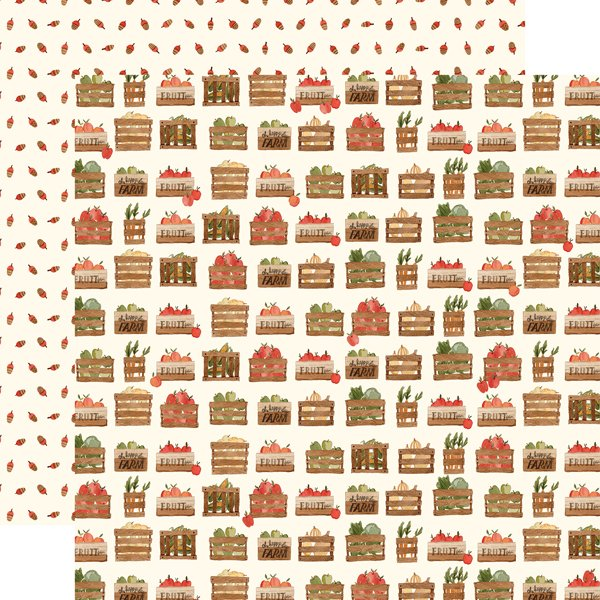 Hello Autumn Double-Sided Cardstock 12X12-Harvest Crates