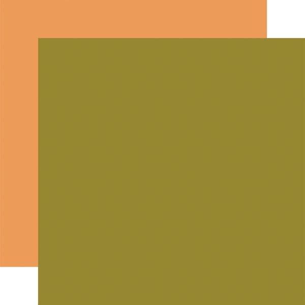 Hello Autumn Double-Sided Cardstock 12X12- Green/ Lt Orange