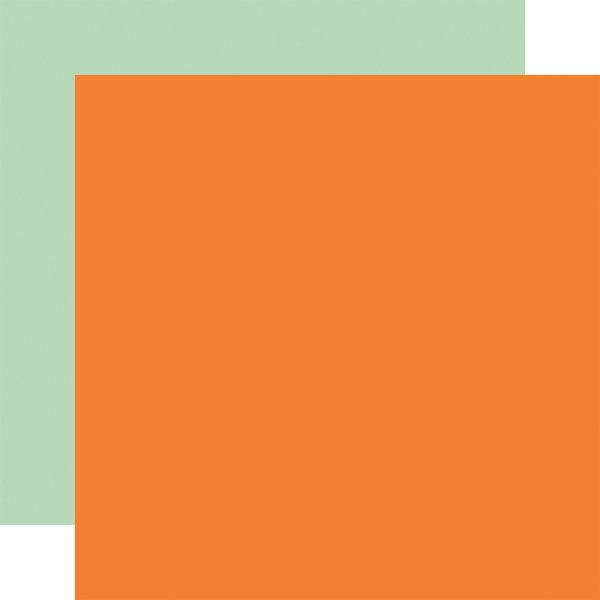 Welcome Autumn Double-Sided Cardstock ORANGE/MINT