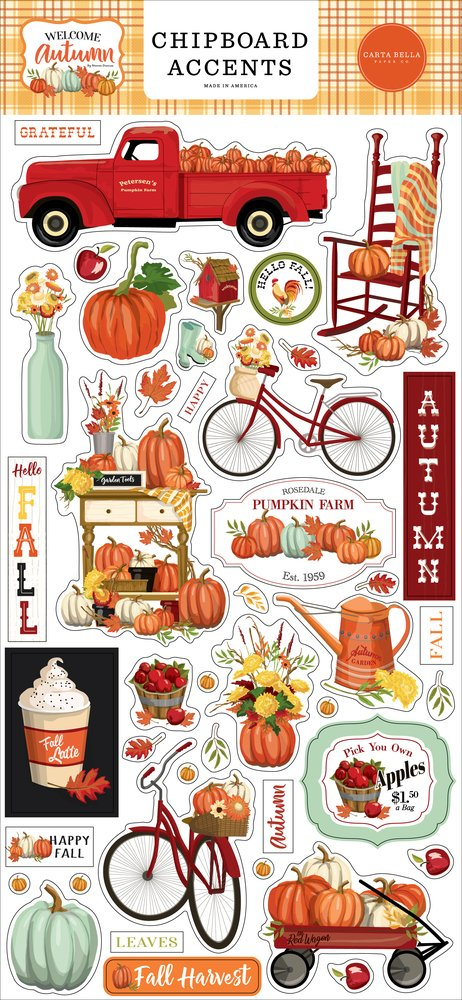 Welcome Autumn Chipboard 6X13-Accents
