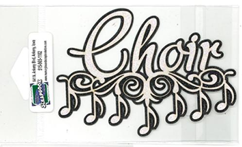 DIECUT - CHOIR W/MUSIC NOTES