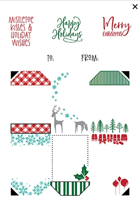 Christmas 4x6 Gift Tag Stack Stamp Set