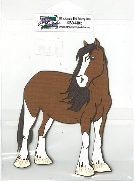DIECUT - CLYDESDALE HORSE