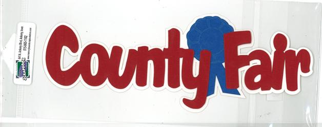 DIECUT-COUNTY FAIR W/BLUE RIBBON