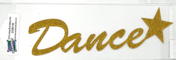 DIECUT - DANCE TITLE W/STAR