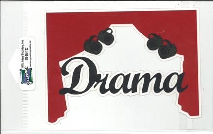 DIECUT-DRAMA TITLE W/CURTAINS AND LIGHTS