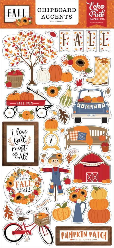 Fall Chipboard 6X13-Accents