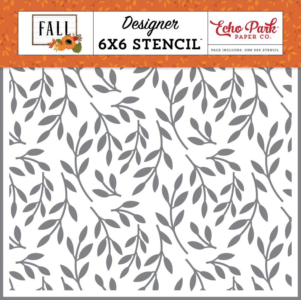 Echo Park Stencil 6X6-Fall Foliage