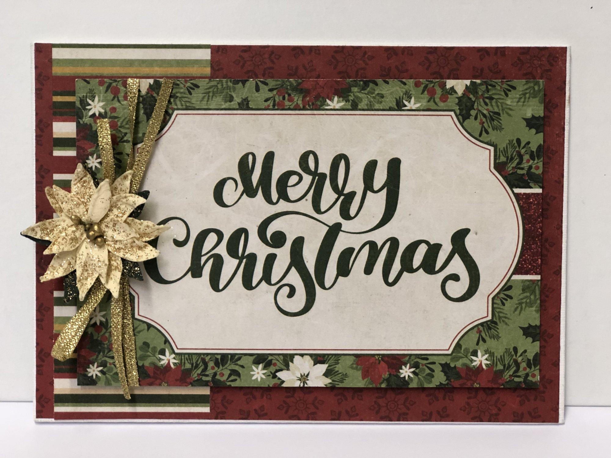 MERRY CHRISTMAS 4X6 PANEL