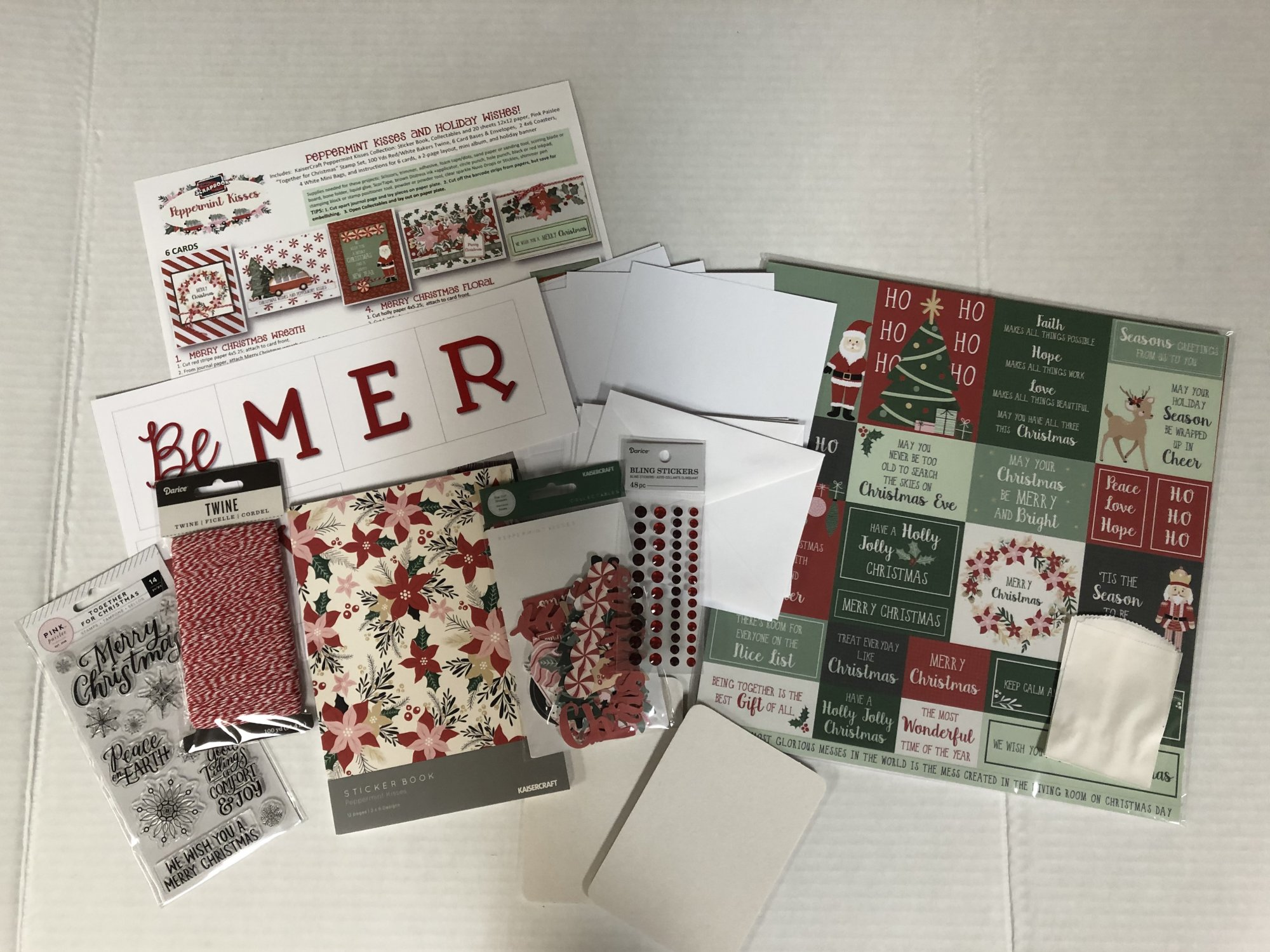 Peppermint Kisses Holiday Craft Bundle