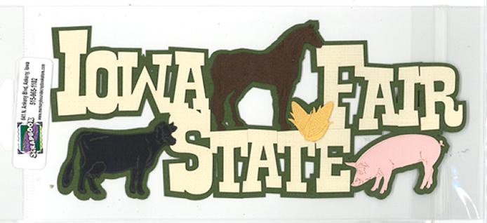 DIECUT - IOWA STATE FAIR W/ANIMALS