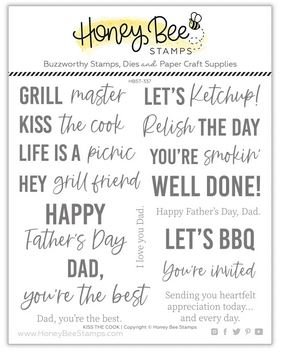 KISS THE COOK STAMP SET