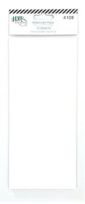 Watercolor 4x9 Slimline Paper Pack - 10pc