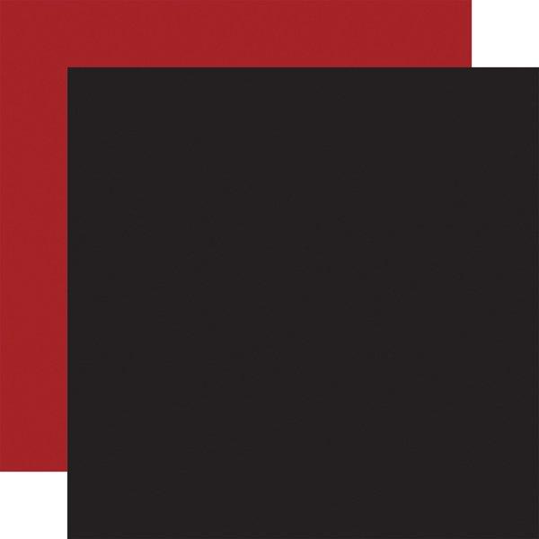 Echo Park  12X12-Let's Lumberjack BLACK/DARK RED