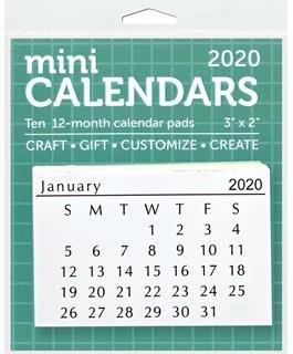 MINI BLACK/WHITE 2021 CALENDAR 10PCS