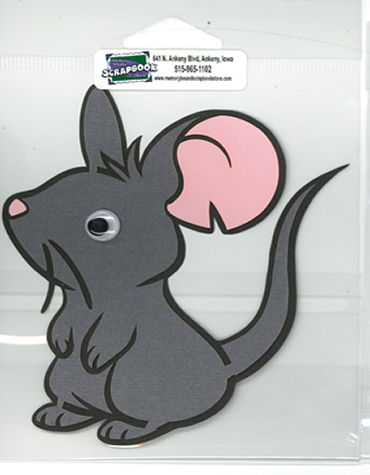 DIECUT - MOUSE W/ WIGGLE EYES