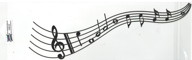 DIECUT - MUSIC STAFF & NOTES BORDER
