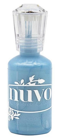MIXED MEDIA - NUVO CRYSTAL DROPS BLUE ICE