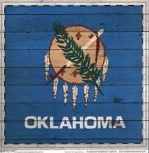 PPR - OKLAHOMA WOOD SIGHTSEEING FLAG