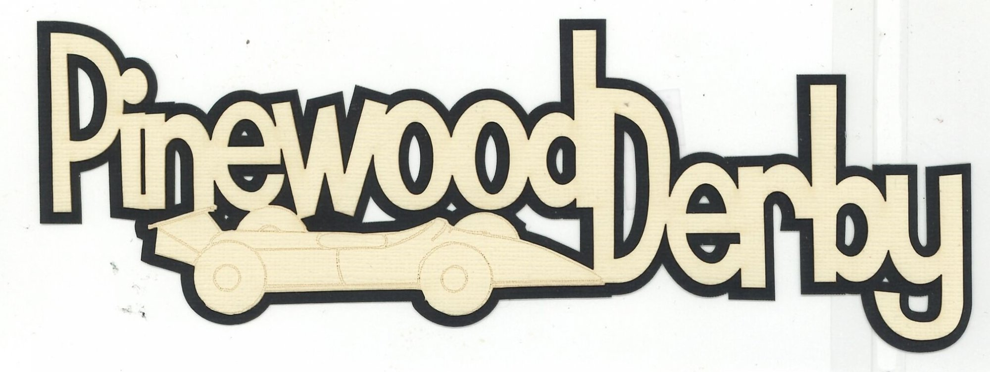 Pinewood Derby Title w/Car