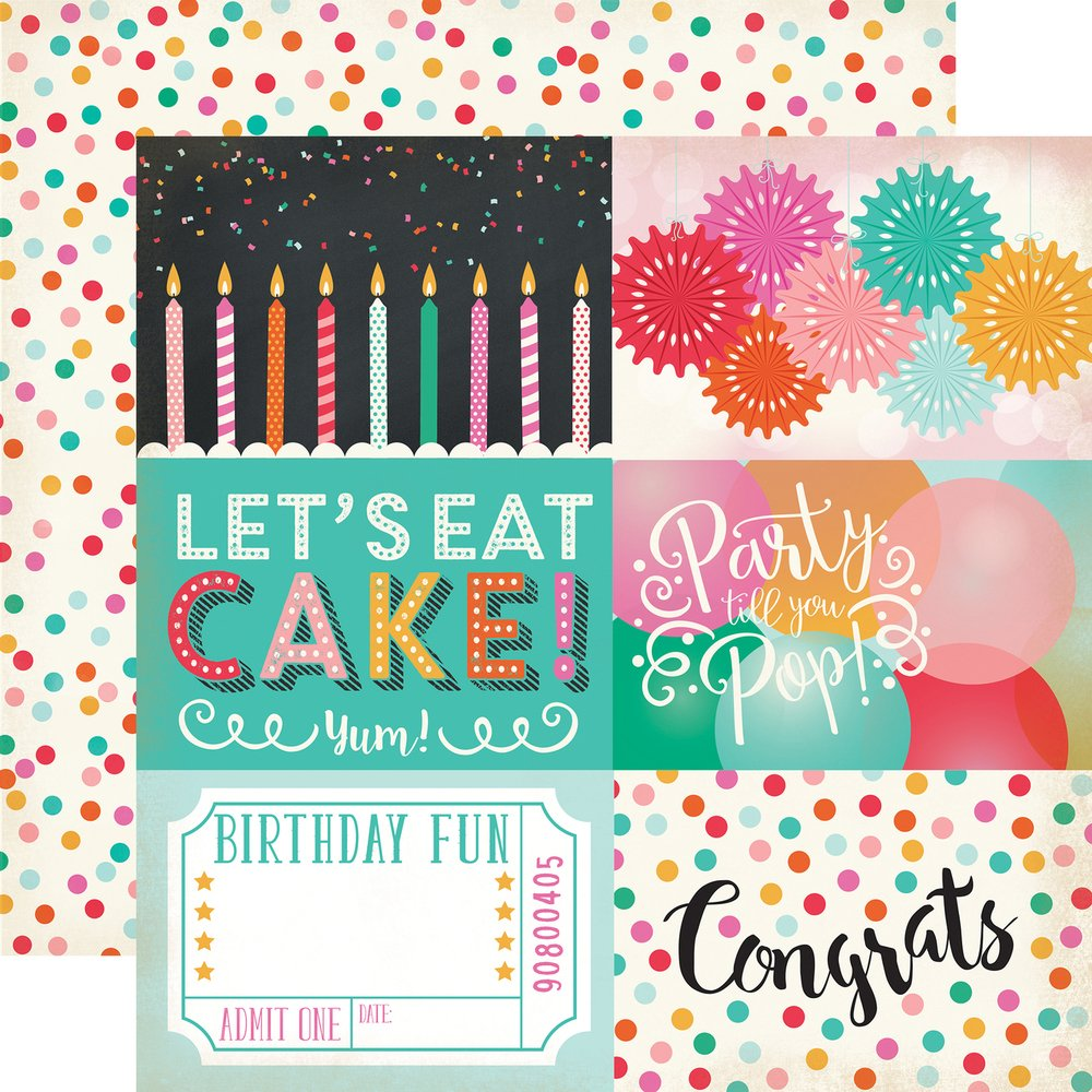 PPR-PARTY TIME JOURNALING CARDS