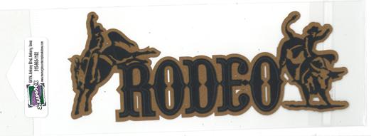 DIECUT- RODEO TITLE W/HORSE & COWBOY