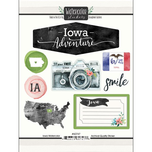 IOWA WATERCOLOR Stickers
