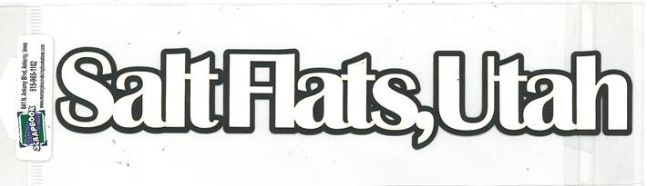 DIECUT - SALT FLATS UTAH