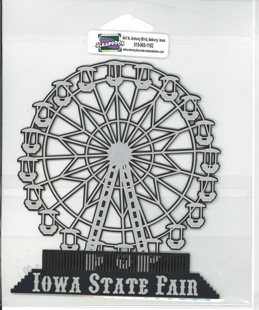 DIECUT-IOWA STATE FAIR FERRIS WHEEL