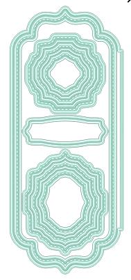 Elegant Stitched Frames Slimline Dies
