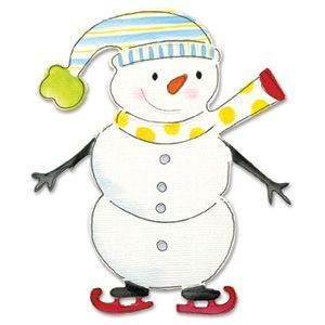 SNOWMAN W/SKATES