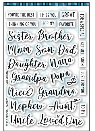 SPECIAL FAMILY STAMP SET